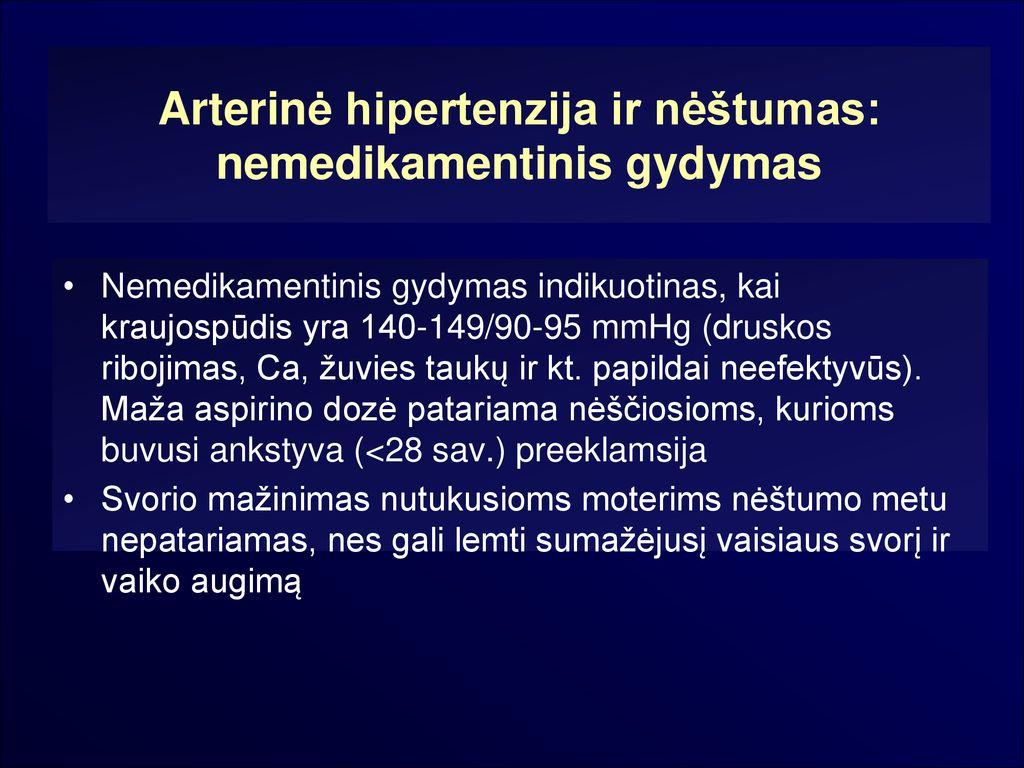 vidutinio amžiaus moterų hipertenzijos gydymas