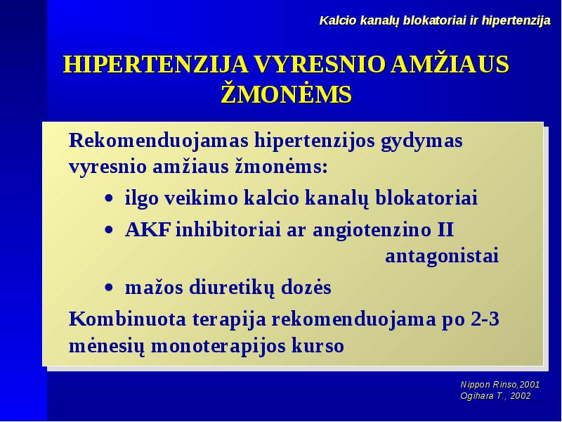 hipertenzijos normos