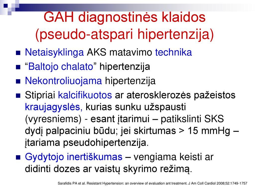sveikatos hipertenzijos gydymas ir profilaktika