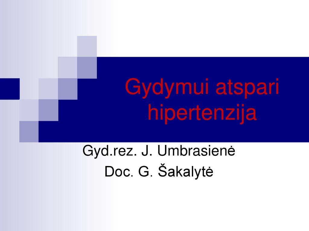 hipertenzijos gyvenimo būdas