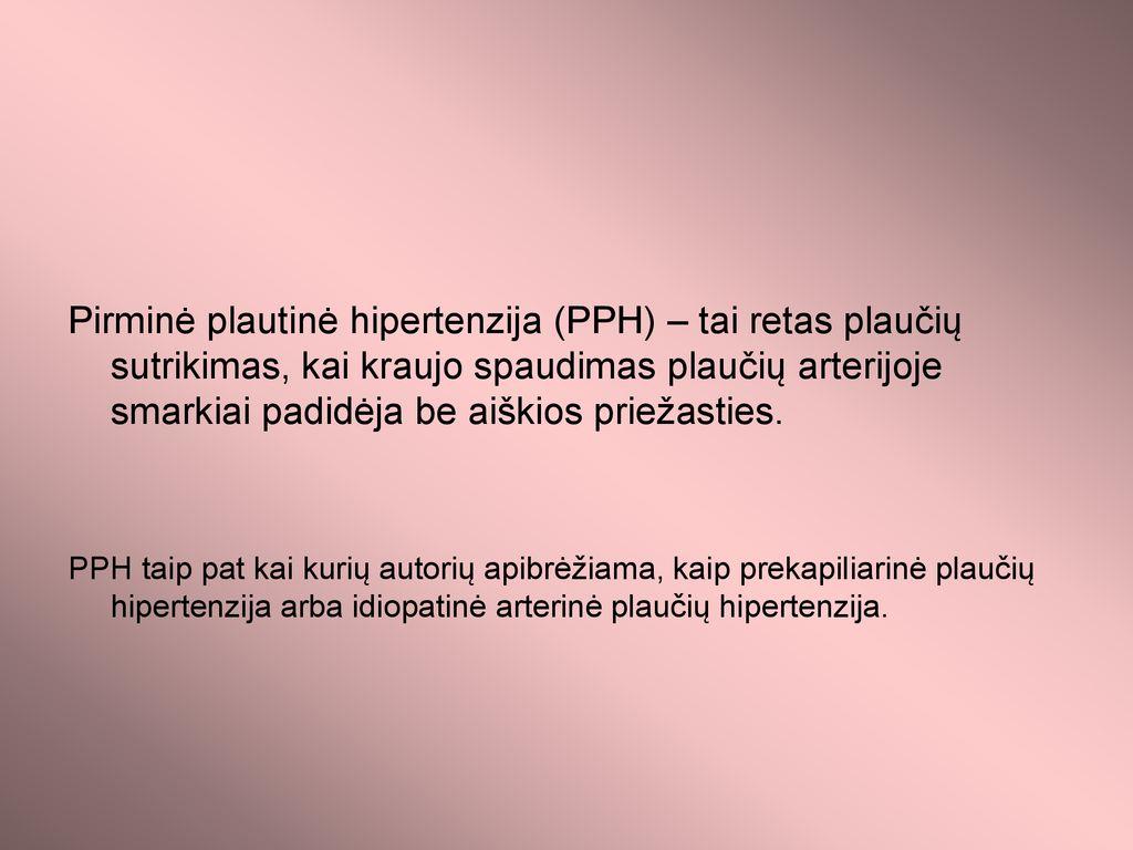 plaučių hipertenzijos patogenezė vyresnio amžiaus žmonių hipertenzijos liga