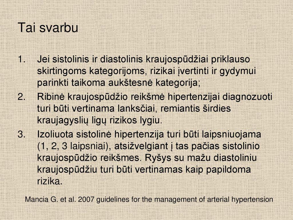 hipertenzijos automatinis mokymas