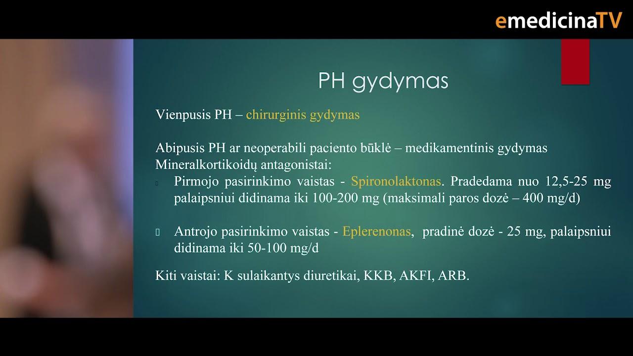 hipertenzija e vaistai