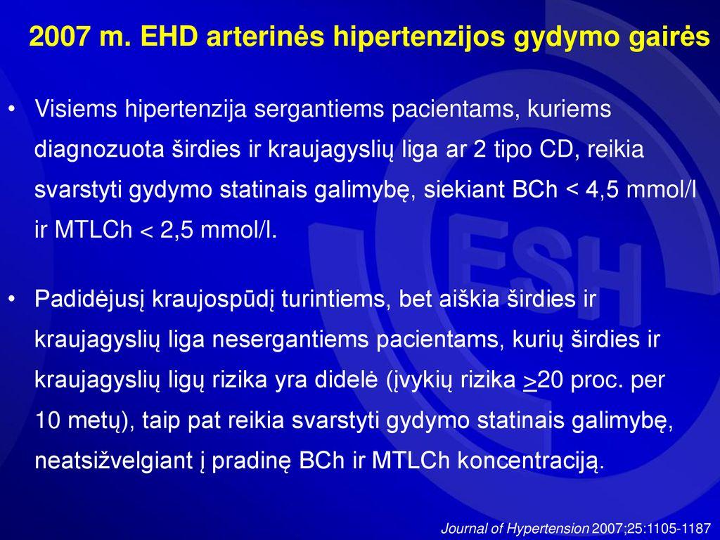 ko reikia hipertenzijai gydyti
