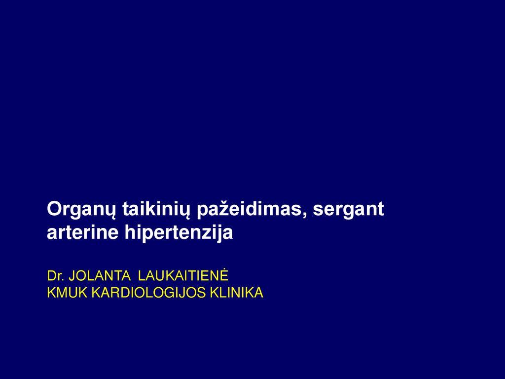 hipertenzijos gydymas vyresnio amžiaus žmonėms