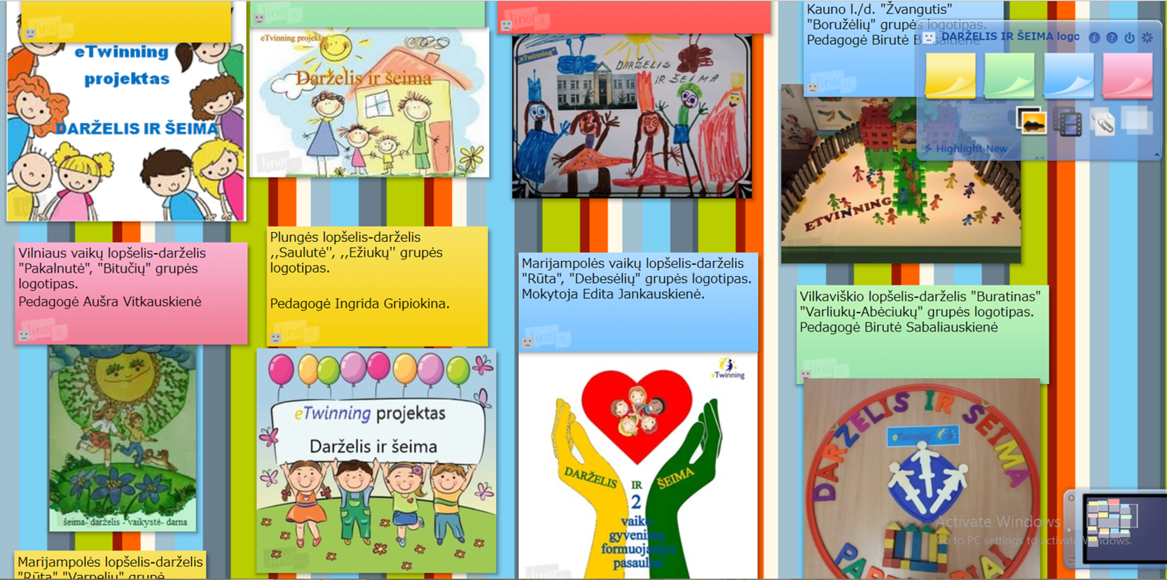 ikimokyklinio ugdymo širdies meno projektas