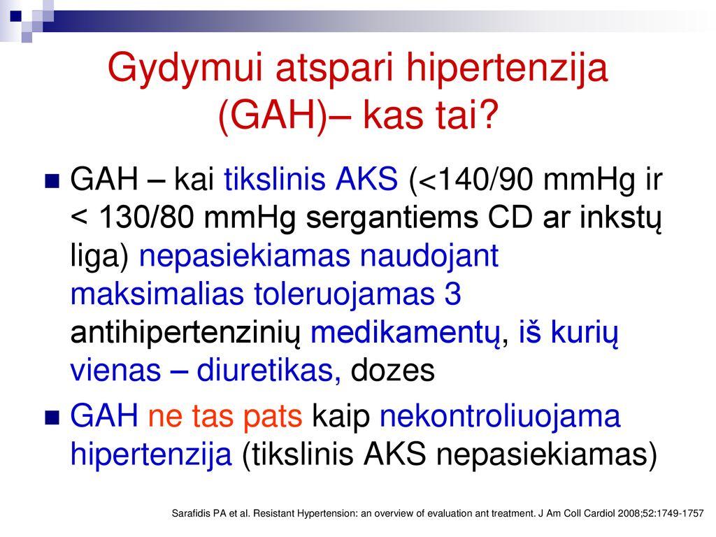 ko vengti sergant hipertenzija
