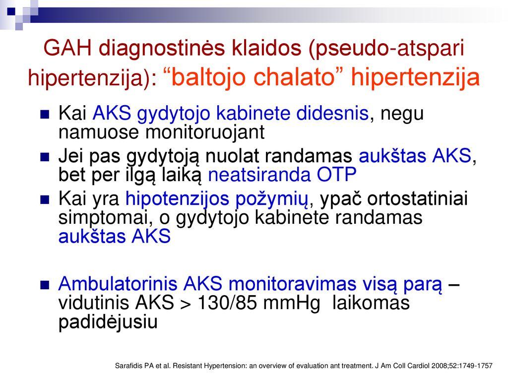 hipertenzijos ryšys